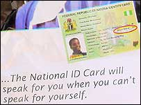Poster for Nigerian ID card