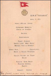 Harold Lowe's menu