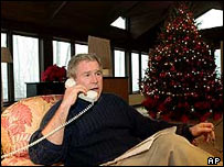 President Bush at Christmas