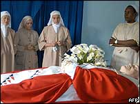 Monsignor Courtney lying in state in Burundi