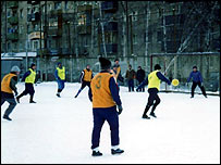 Winter football in Tomsk