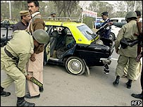 Checkpoint in Islamabad