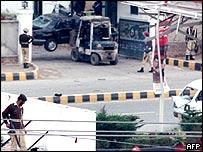 Site of Rawalpindi bombing