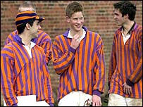 Eton pupils, including Prince Harry (centre)