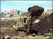 Earth mover in Golan Heights in 1999