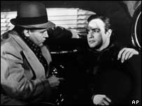 Marlon Brando (r) with Rod Steiger in On The Waterfront