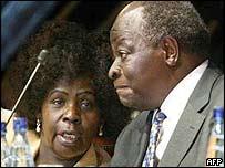 Lucy and President Kibaki