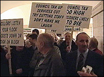 Council tax protesters