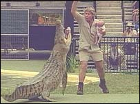 Steve Irwin said he had to teach his children to be