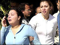 Distraught relatives rushed to the airline's main office in Cairo