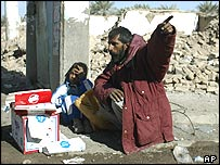 Residents of Bam left homeless by the earthquake