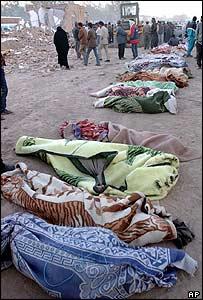 Dead left by eathquake