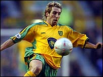Norwich striker Darren Huckerby