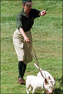 Princess Anne with her dogs