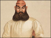 Cartoon of WG Grace