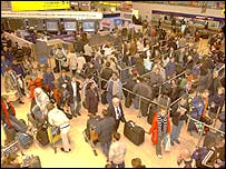 Check-in area at Heathrow