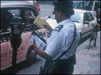 traffic warden in London