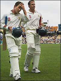 Justin Langer and Matthew Hayden