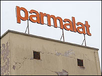Parmalat building and sign