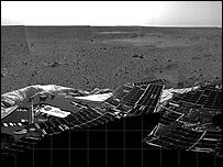 Spirit's first view of Mars (Nasa)
