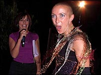 Big Brother host Davina McCall (left) with contestant Nichola