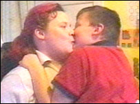 Sally Moffatt and her son Sam