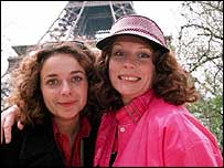 Julia Sawalha and Jennifer Saunders