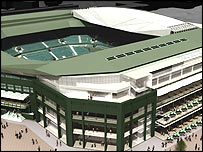 An artist's impression of the new sliding roof