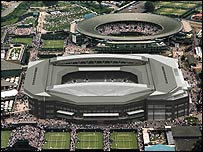 A graphic showing the intended redevelopment of Centre Court