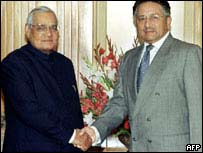 Atal Behari Vajpayee and Pervez Musharraf