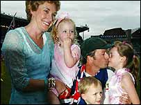 Lynette and Sterve Waugh and their children