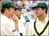 Steve Waugh and Ricky Ponting