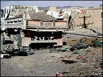 Scene of bombing in Kandahar