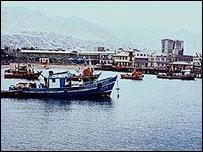 Puerto de Antofagasta, Chile.