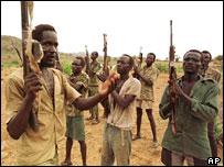 SPLA rebels drill
