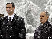 Bashar al-Assad and Ahmet Necdet Sezer