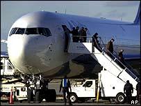 Delta Flight 43 on arrival at Cincinnati