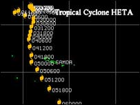 Cyclone Heta tracking map