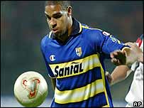 Parma player Adriano