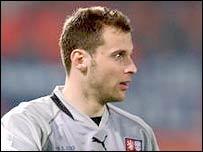 Czech goalkeeper Petr Cech