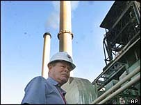 A Bechtel engineer overseeing repairs to a Baghdad power plant