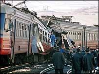 Wreckage from 5 December train blast