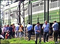 Wreckage from 3 September train blast, that killed six