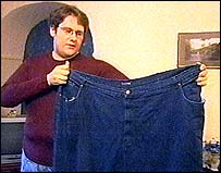 Colin with his old trousers