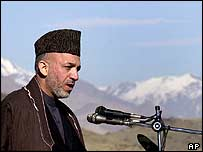 President Hamid Karzai opens the Kandahar-Kabul highway in December