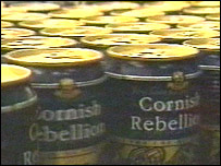 Cans at Redruth Brewery
