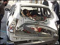 A car bomb that injured 10 Afghans in Kandahar in December