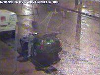 CCTV image showing Michael Howard stepping out of his car, moments before the fatal carjacking