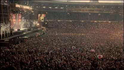 Concierto en el estadio de Wembley
