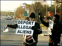 Protesters against illegal immigration